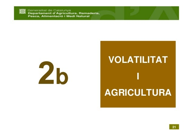 VOLATILITATb        I    AGRICULTURA                  21