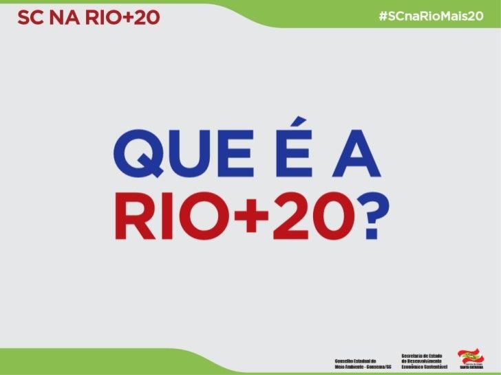O que é a Rio+20