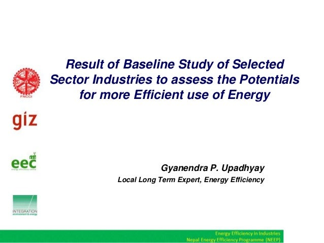 Result of Baseline Study of Selected Sector Industries to assess the Potentials for more Efficient use of Energy  Gyanendr...