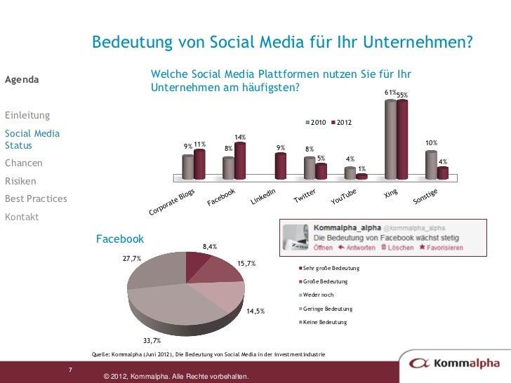 die bedeutung von social media in der investmentbranche update 2012