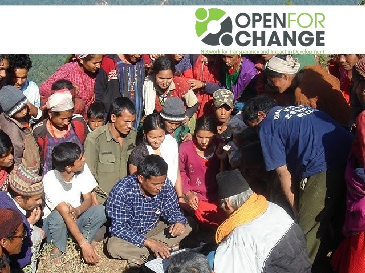 Open Developmentis the application of open knowledge andICTs to make development activities moretransparent, participative...