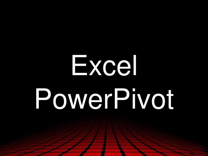 ExcelPowerPivot