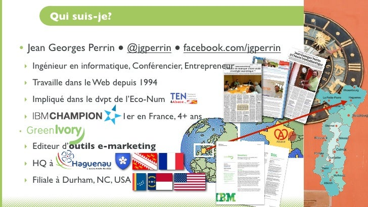 Qui suis-je?• Jean Georges Perrin ● @jgperrin ● facebook.com/jgperrin    ‣ Ingénieur en informatique, Conférencier, Entrep...
