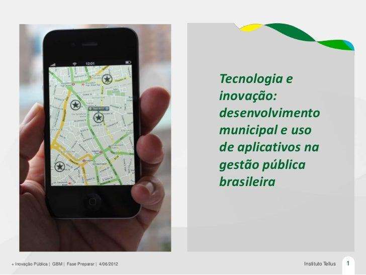 Tecnologia e                                                       inovação:                                              ...