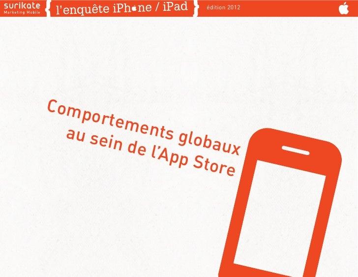 édition 2012Comp     ortem  au se     ents g        in de      lobau              l'App      x                    Store