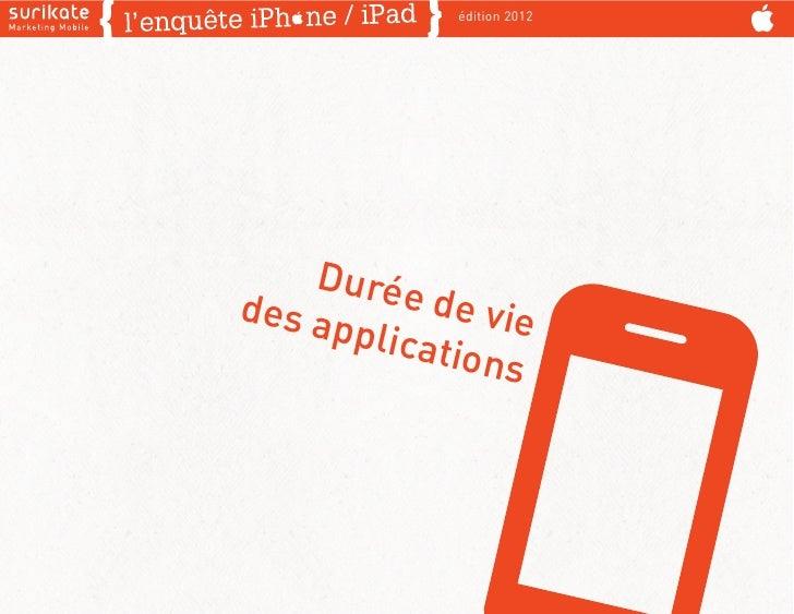 édition 2012    Duréedes a       de vie      pplica             tions