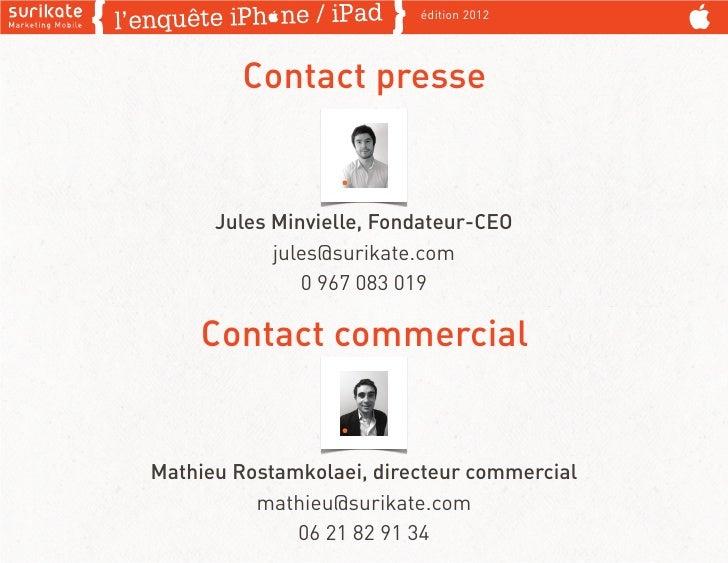 édition 2012         Contact presse      Jules Minvielle, Fondateur-CEO            jules@surikate.com               0 967 ...