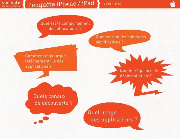 édition 2012       Quel est le comportement           des utilisateurs ?                                  Quelles sont les...