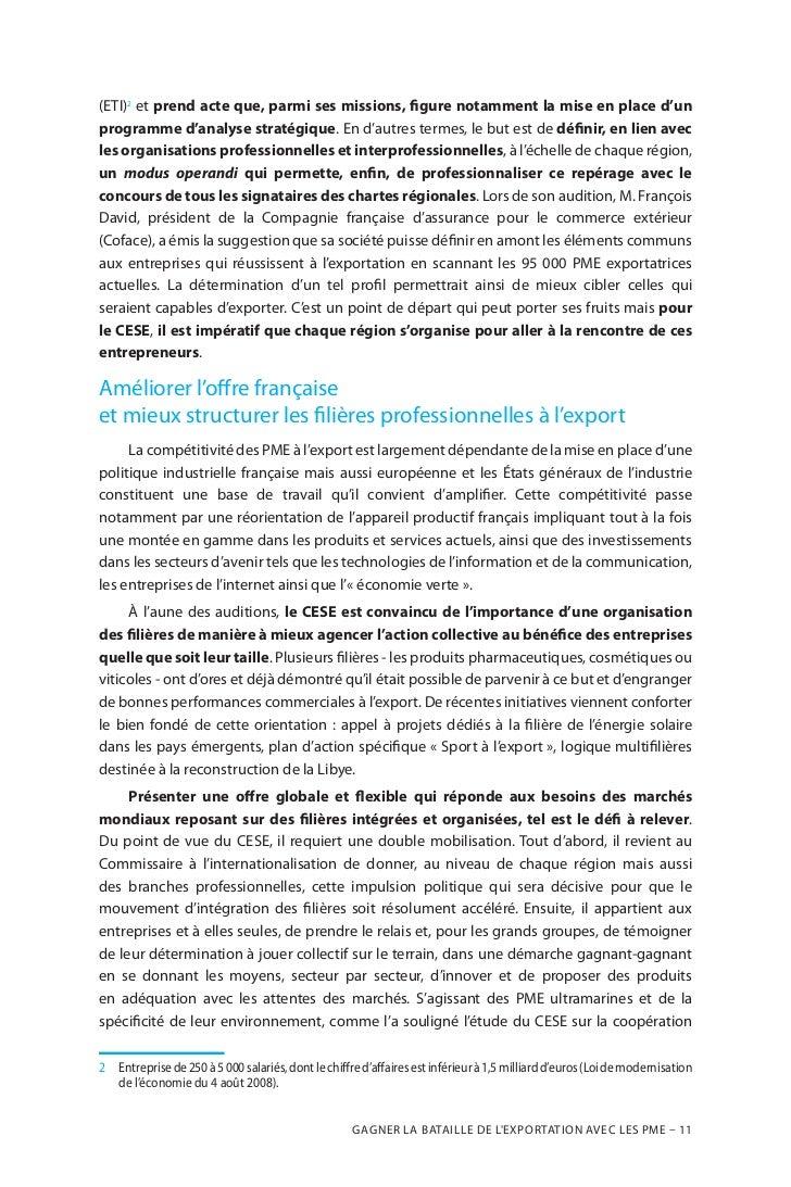 Des mesures pour gagner la bataille de l exportations for Compagnie francaise d assurance pour le commerce exterieur