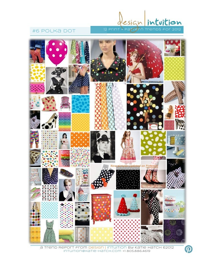 12 print + pattern trends for 2012#6 Polka dot                                  New pictures updated on Pinterest  a Trend...