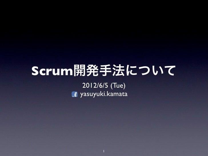 Scrum開発手法について     2012/6/5 (Tue)    yasuyuki.kamata           1