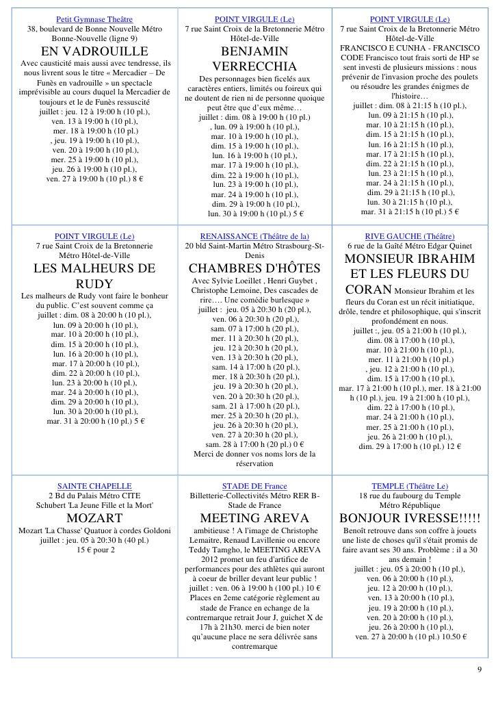Petit Gymnase Theâtre                           POINT VIRGULE (Le)                              POINT VIRGULE (Le)  38, bo...