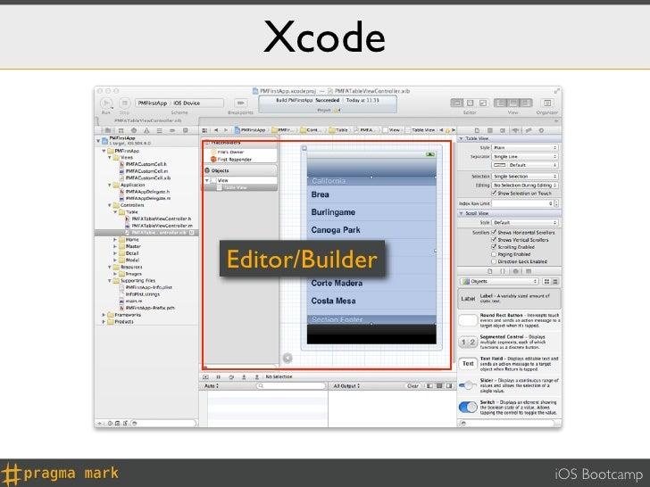 XcodeEditor/Builder                 iOS Bootcamp
