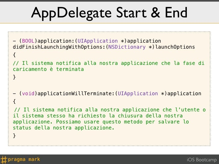 AppDelegate Start & End- (BOOL)application:(UIApplication *)applicationdidFinishLaunchingWithOptions:(NSDictionary *)launc...