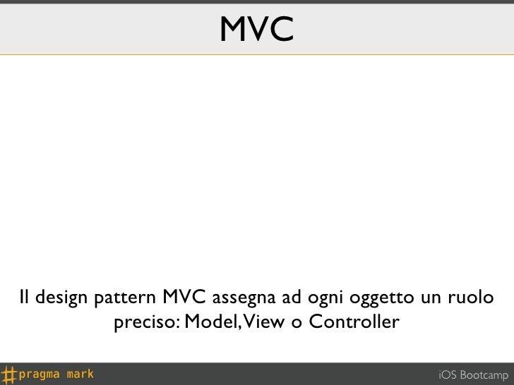 MVCIl design pattern MVC assegna ad ogni oggetto un ruolo            preciso: Model,View o Controller                     ...