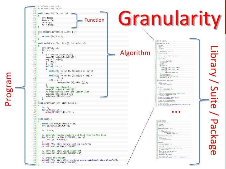 Function                             Granularity          www.software.ac.uk                                              ...