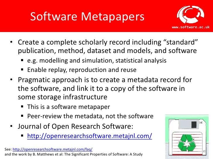 Software Metapapers                                                                                     www.software.ac.uk...