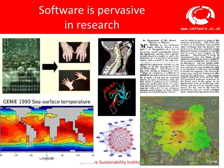 Software is pervasive     in research                            www.software.ac.uk        Software Sustainability Institute