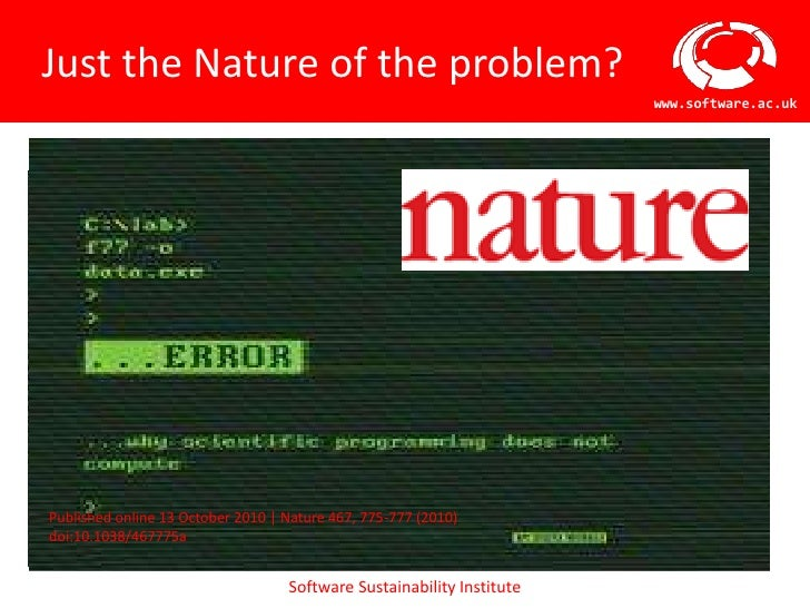 Just the Nature of the problem?                                                                              www.software....