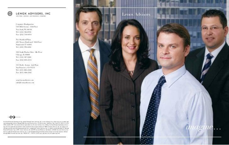Lenox Advisors                        Corporate Headquarters                        530 Fifth Avenue 11th Floor           ...