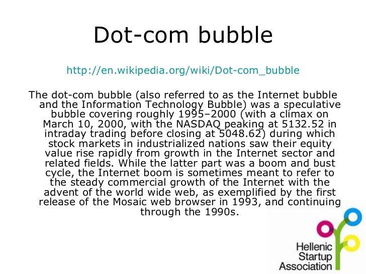 Τα πάντα στην Ελλάδαέρχονται καθυστερημένα Το ίδιο και το dotcom bubble!