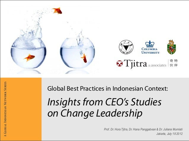Global Best Practices in Indonesian Context: Insights from CEO's Studies on Change Leadership Prof. Dr. Hora Tjitra, Dr. H...