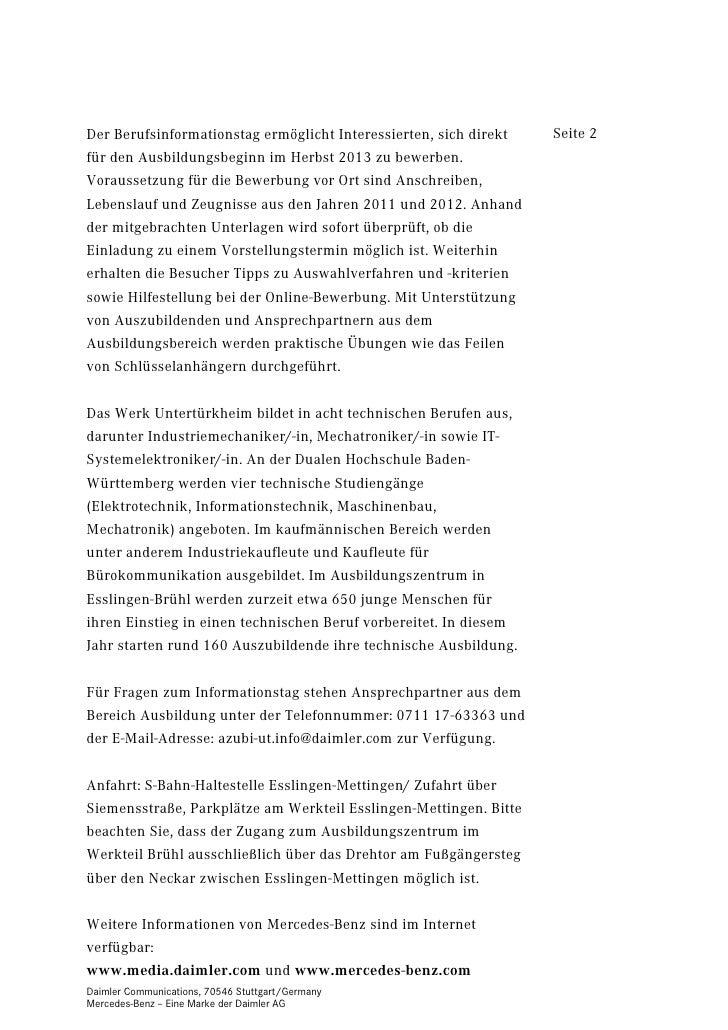 20120720piaktion Bring Deine Bewerbung Mit Im Mb Werk Untertürkhe