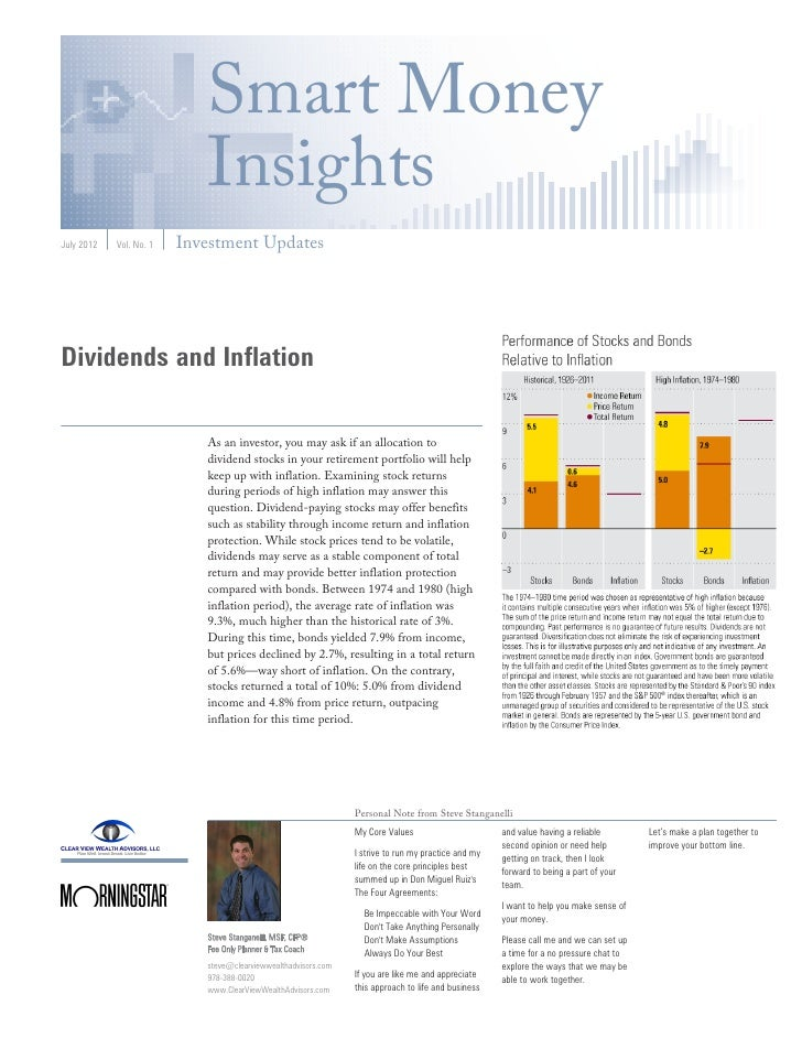 Smart Money                            InsightsJuly 2012   Vol. No. 1   Investment UpdatesDividends and Inflation         ...