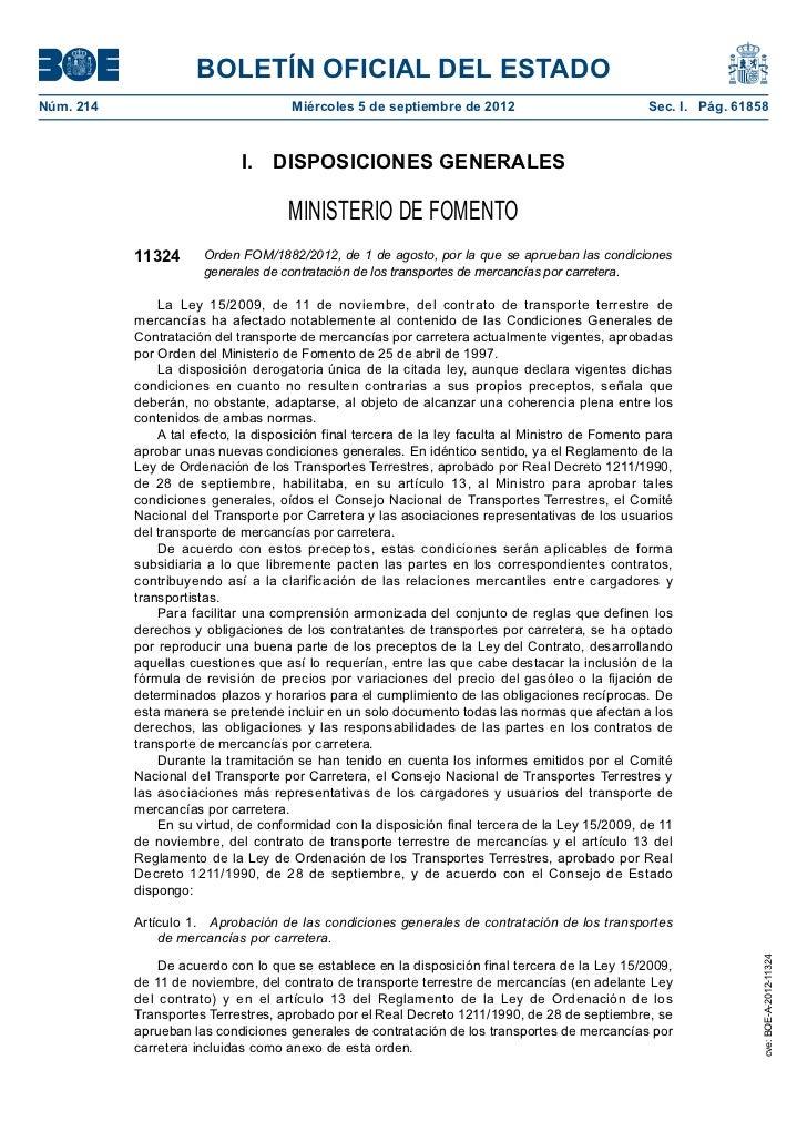 BOLETÍN OFICIAL DEL ESTADONúm. 214                             Miércoles 5 de septiembre de 2012                        ...