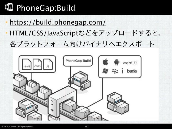 PhoneGapの始め方