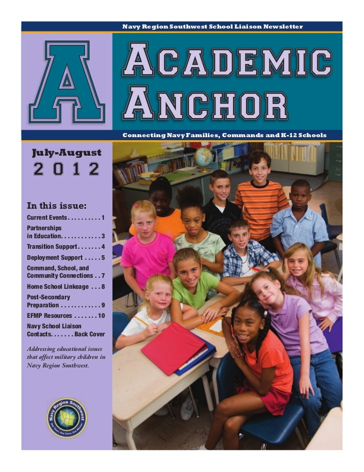 Navy Region Southwest School Liaison Newsletter AJuly-August                                         Academic             ...