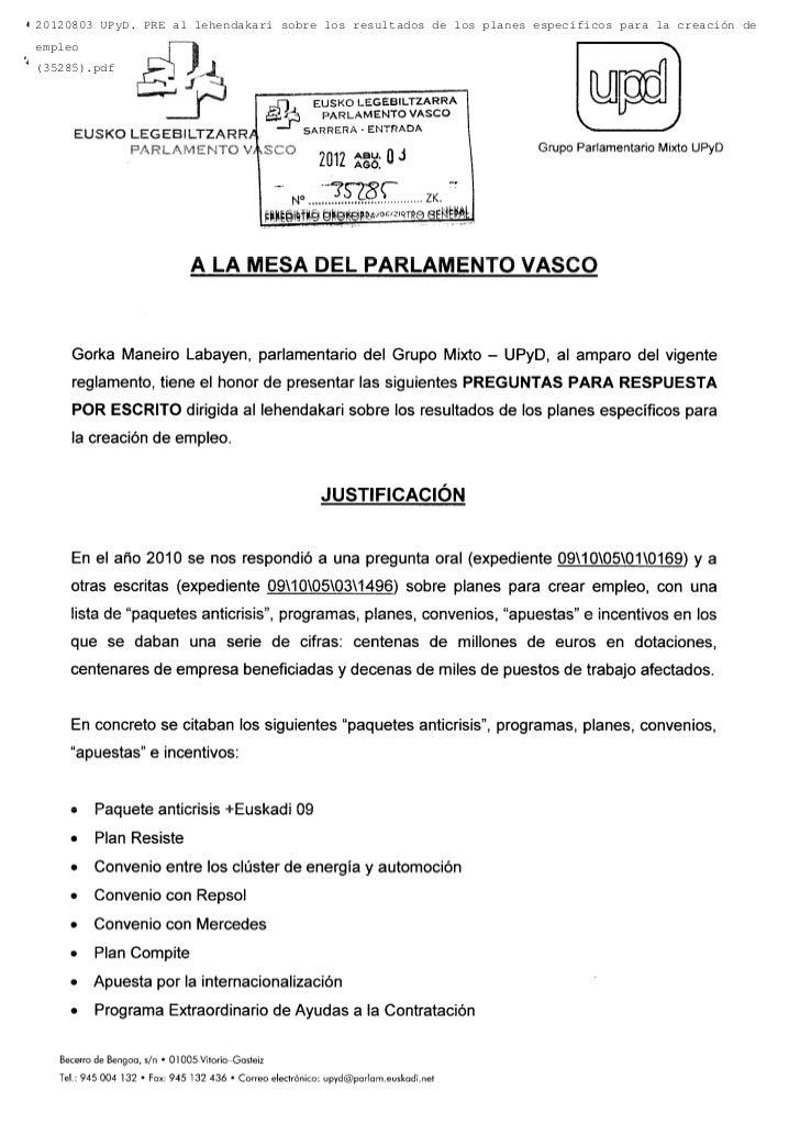 20120803 UPyD. PRE al lehendakari sobre los resultados de los planes específicos para la creación deempleo(35285).pdf