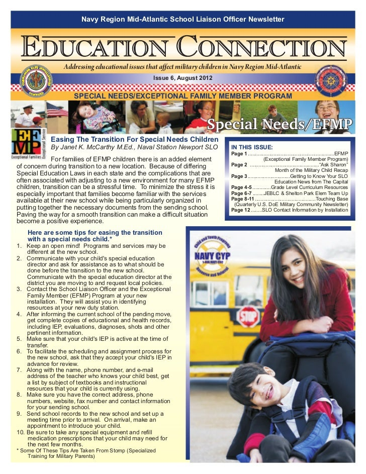 Navy Region Mid-Atlantic School Liaison Officer Newsletter EDUCATION CONNECTION NAVY INS                                  ...