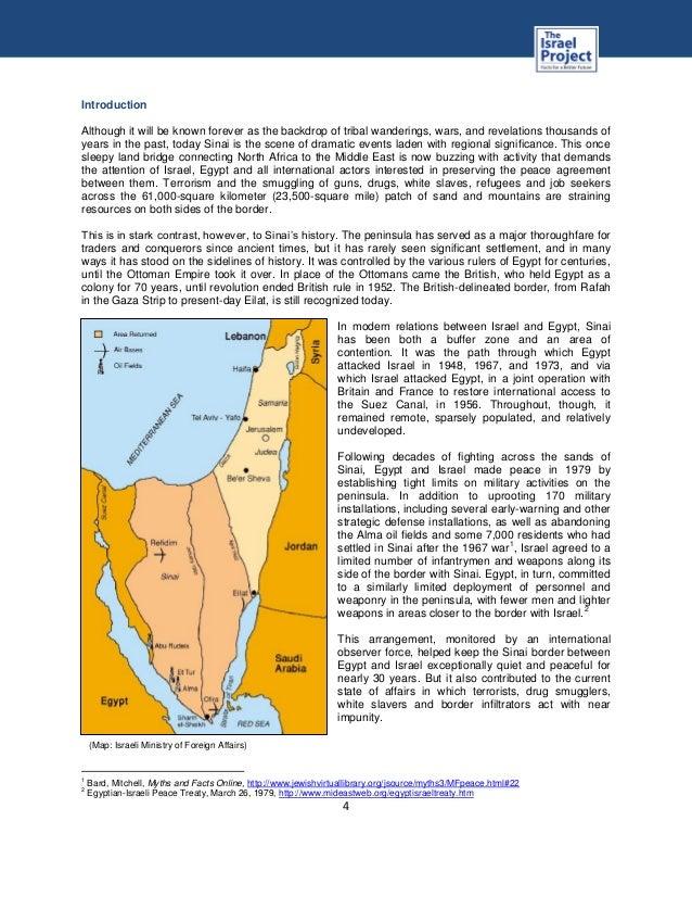 Security Threats from the Sinai Peninsula
