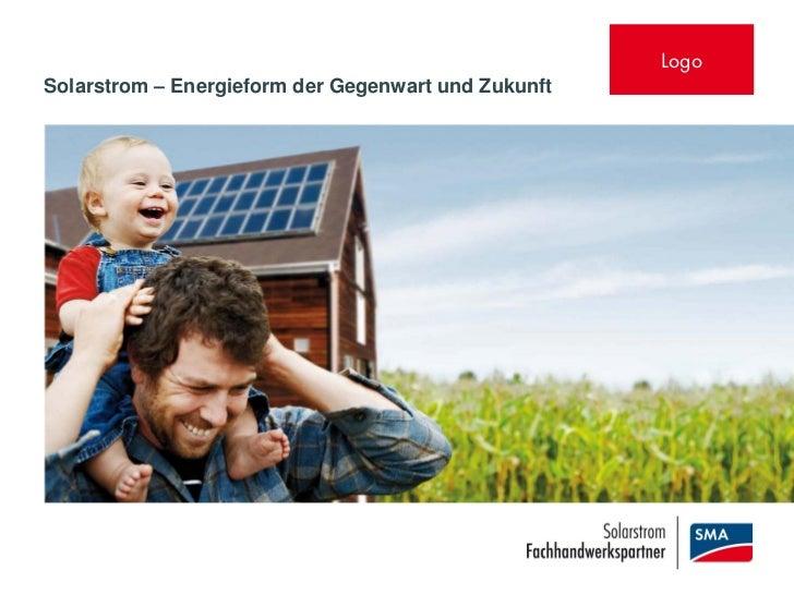 LogoSolarstrom – Energieform der Gegenwart und Zukunft