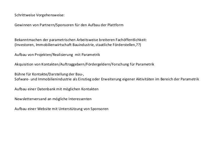 Wie schaffen wir es:Präsentation unserer Plattform in der Öffentlichkeit         - Internetauftritt         -Präsentatione...