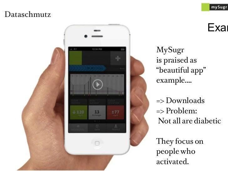 "Dataschmutz                                Exam              MySugr              is praised as              ""beautiful app..."