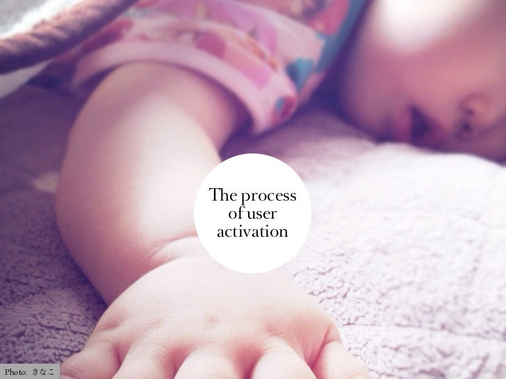 The process               of user              activationPhoto: きなこ