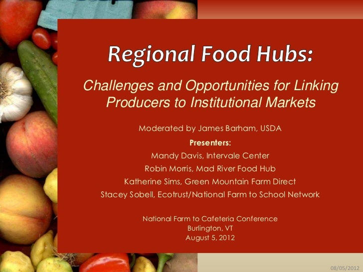 Challenges and Opportunities for Linking   Producers to Institutional Markets           Moderated by James Barham, USDA   ...