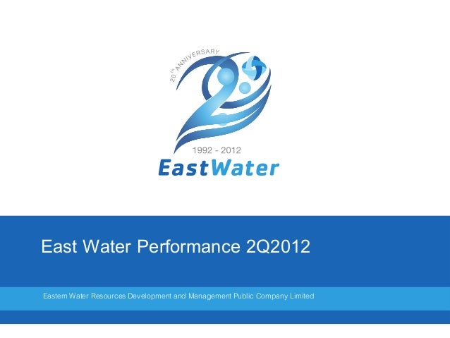 East Water Performance 2Q2012Eastern Water Resources Development and Management Public Company Limited