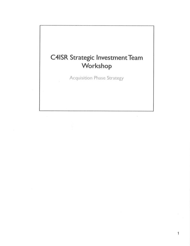 20120905 C4ISR Strategic Investment Team Workshop