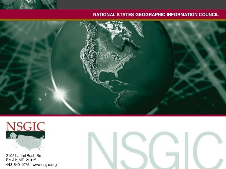 NATIONAL STATES GEOGRAPHIC INFORMATION COUNCIL                             NATIONAL STATES GEOGRAPHIC INFORMATION COUNCIL2...