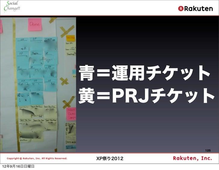 青=運用チケット              黄=PRJチケット                          125               XP祭り201212年9月16日日曜日