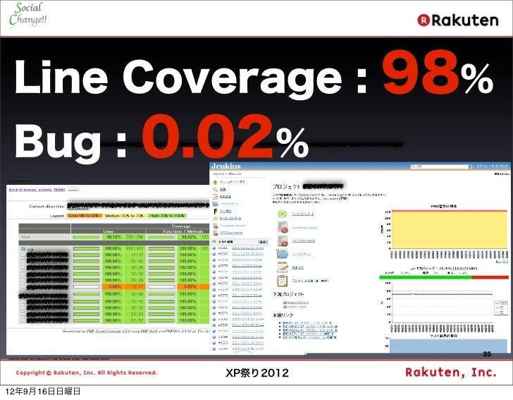 Line Coverage :           98% Bug :        0.02%                             35                XP祭り201212年9月16日日曜日