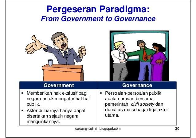 Pelaku Pembangunan:               Paradigma Governance   Interaksi antara Pemerintah, Dunia Usaha Swasta, dan Masyarakat ...