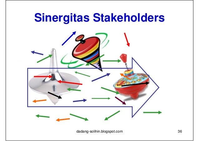 Sinergitas Stakeholders       dadang-solihin.blogspot.com   37