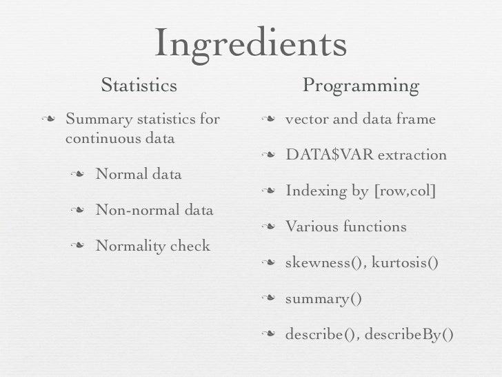 Descriptive Statistics With R