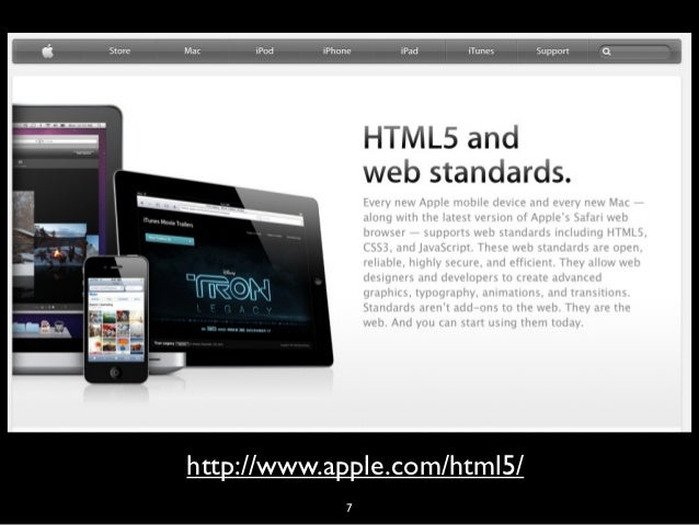 html5• work-in-progress• 'most modern browsers some support'                   8