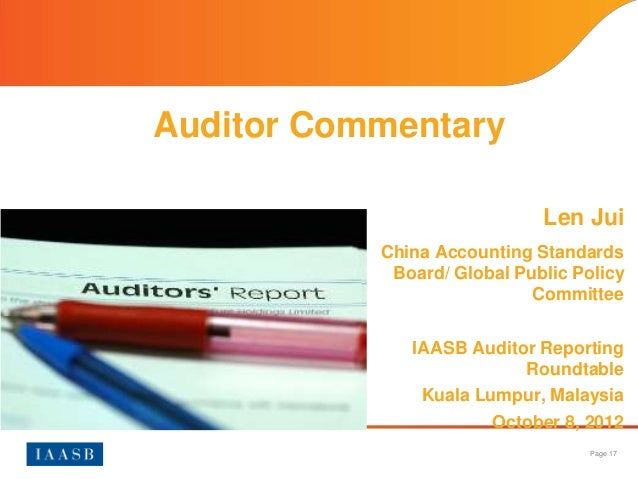 Accounting And Auditing Policy Committee