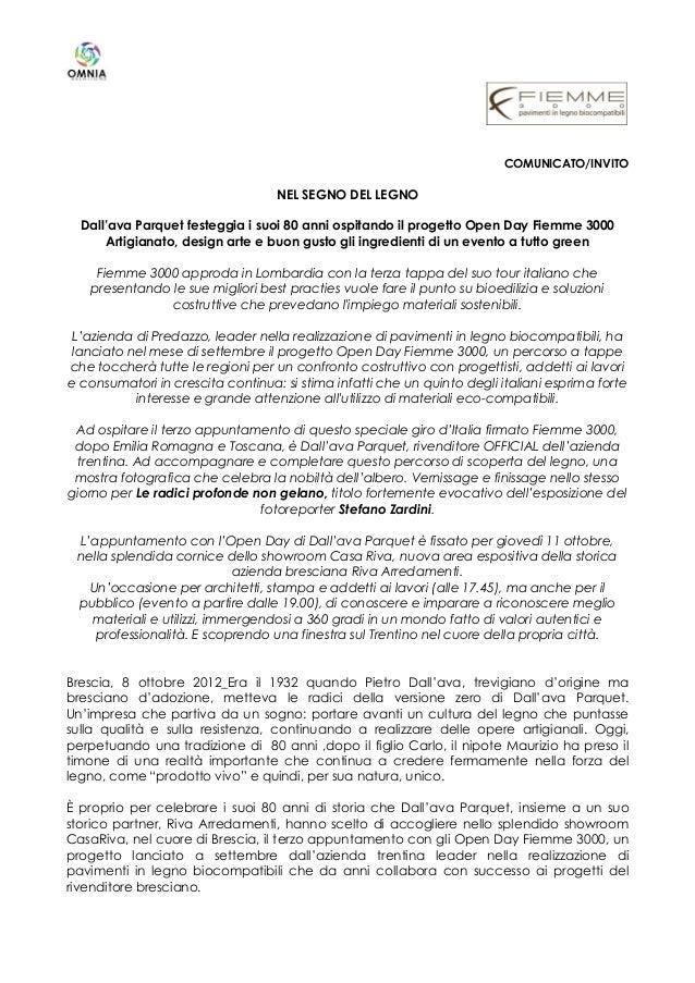 2012 10 08 open day fiemme 3000 dall ava parquet for Dall ava parquet